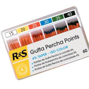 ISO spalvu teiperine Gutta percha-1