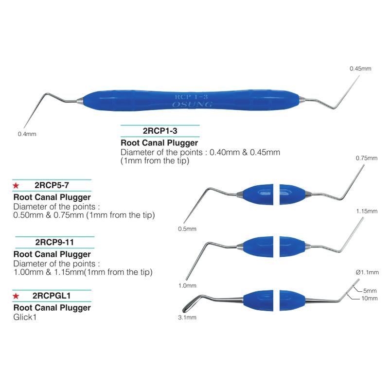 Šaknų kanalų kondensavimo instrumentai