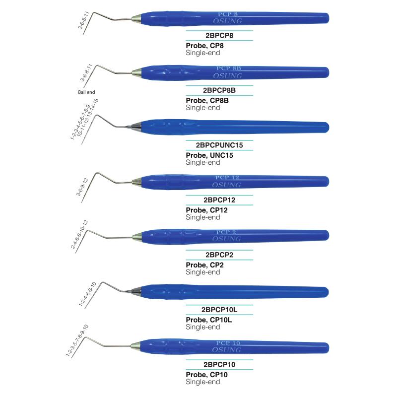 Vienpusiai periodontiniai zondai
