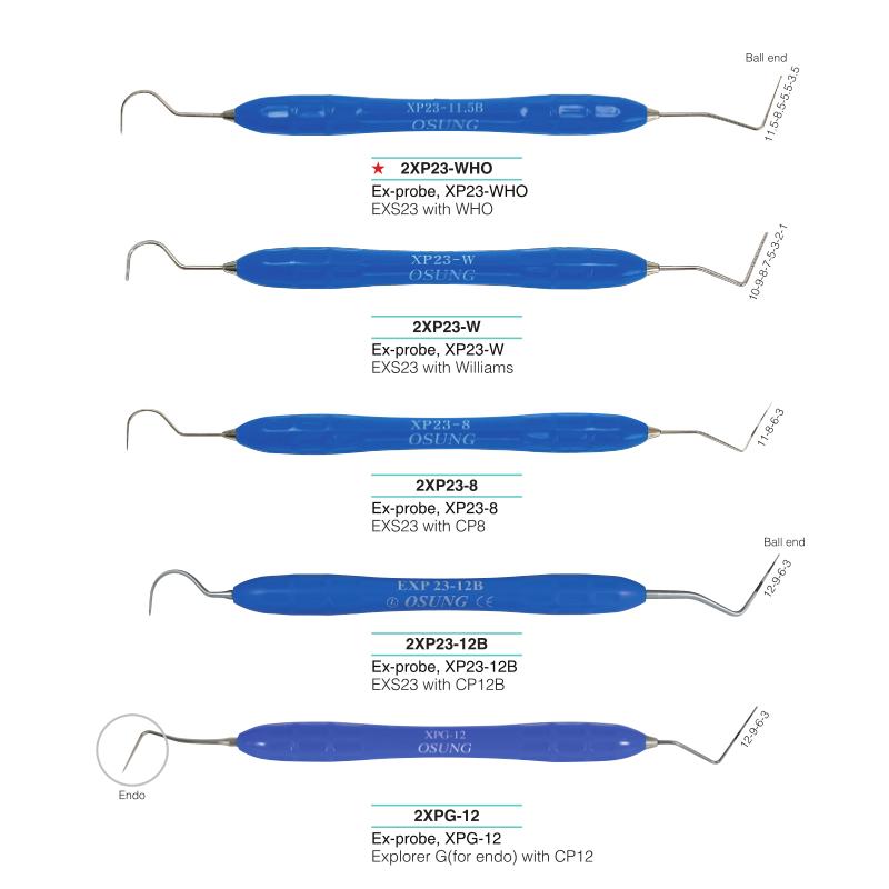 Dvipusiai periodontiniai zondai